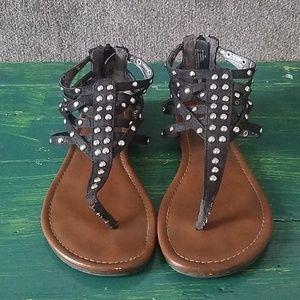 Women's Black Studded Sandals